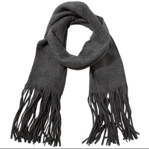 Lucky Brand Charcoal Grey Scarf